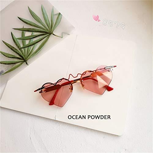 ROirEMJ Frauen Sonnenbrillen Mode Herzform Sonnenbrille Gothic Retro Gläser C