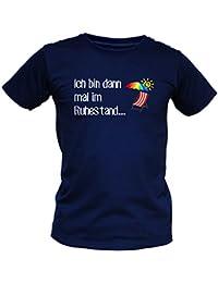 Witziges T-Shirt für Rentner - Ich bin dann mal im Ruhestand - Funshirt zur Pension und als Geschenk