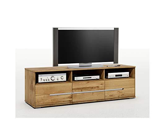 TV-Kommode Lowboard Wildeiche Massiv Slimline mit durchgehenden Lamellen 2997 exsopo