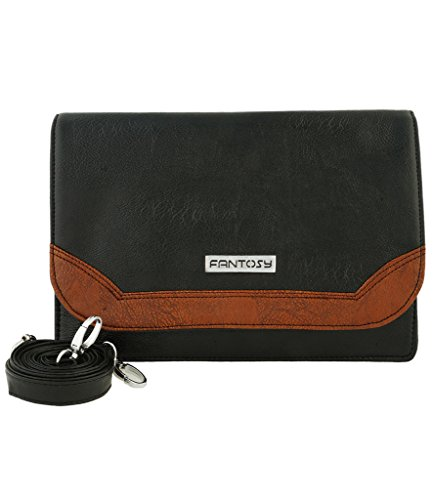 Fantosy Women Sling Bag (FNSB-057, Black and Brown)