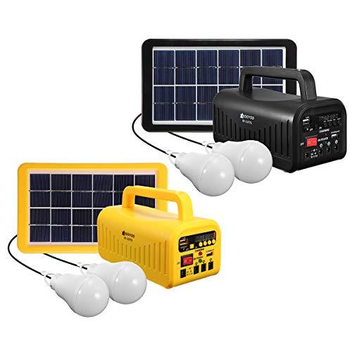 DyNamic Dc 6V 3W Solaranlage Solarpanel Akku Led Taschenlampe Camping Zelt Licht - Schwarz