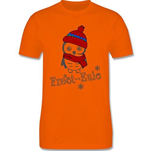Eulen, Füchse & Co. - Frost-Eule - Herren Premium T-Shirt Orange