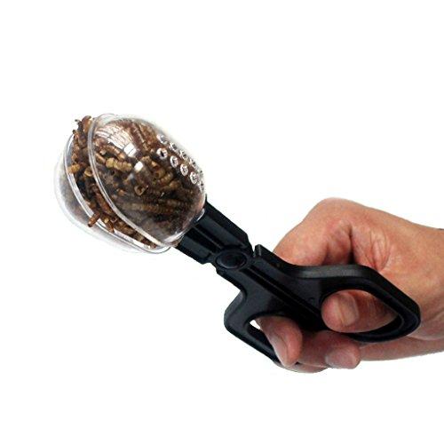 Bwogue herramienta de limpieza de alimentación de reptiles y reptiles para tanque de peces de acuario Terrario