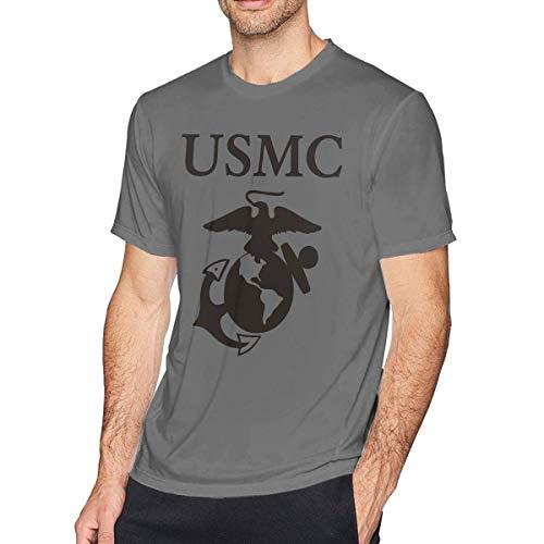 USMC United States Marine Corps Herren T-Shirt mit Rundhalsausschnitt, Freizeithemd für Herren,M (United States Marine Corps Shirts)