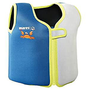 41xh6sJKPyL. SS300  - Mares Childs/Junior Floatation Swim Vest/Jacket. Blue/Grey. Age 2-4 Years.