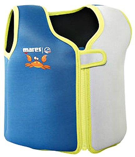 41xh6sJKPyL - Mares Childs/Junior Floatation Swim Vest/Jacket. Blue/Grey. Age 2-4 Years.