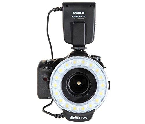 Makro Ringblitz Ringleuchte für Canon EOS DSLR Kameras von Meike