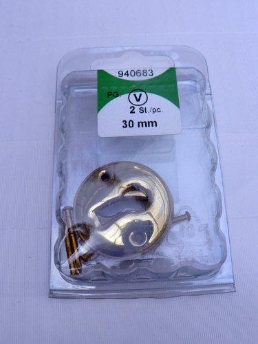 2 Stück HSI Schlüsselschild 30mm Stulpe Metall vermessingt