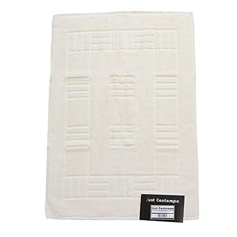 Just Contempo Egyptian Cotton Bath Mat, Cream