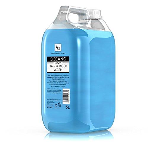 London feine Seifen byr240-5LFS Oceano Luxus Haar und Körper waschen, 5l (2Stück) -