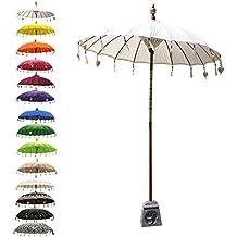 Bunter Baumwoll-Sonnenschirm aus Indien