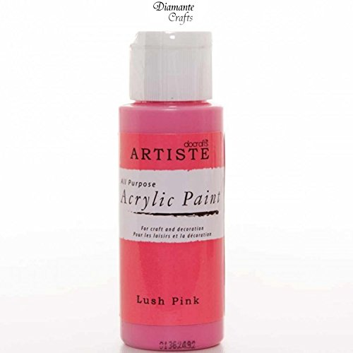 docrafts-artiste-arcylic-paint-all-purpose-59ml-2oz-choose-from-60-colours-lush-pink