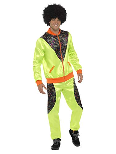 Smiffys Retro Neon 80s Shell Suit Costume. 3 Sizes from 38 to 48 inch Chest