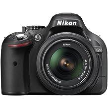 "Nikon D5200 - Cámara réflex digital de 24.1 Mp (Pantalla 3"", vídeo Full HD), negro - kit cuerpo con objetivo Nikkor AF-S DX 18-55 mm II f:3.5"