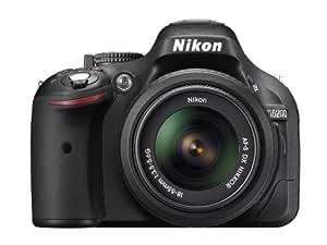 Nikon D5200 SLR-Digitalkamera (24,1 Megapixel, 7,6 cm (3 Zoll) TFT-Display, Full HD, HDMI) Kit inkl. AF-S DX 18-55 mm II Objektiv schwarz
