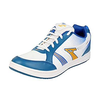 Lancer Men TS-3 WHT-RBL Sports Shoes 10 UK
