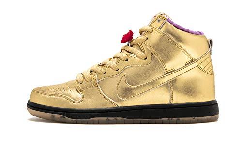 new arrival 859a6 84cdf Nike SB Dunk High QS, Scarpe da Ginnastica Basse Uomo, Multicolore Metallic  Gold