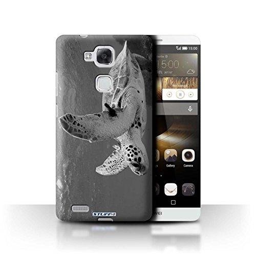 Stuff4® Hülle/Hülle für Huawei Ascend Mate7 / Schildkröte Muster/Zoo-Tiere Kollektion