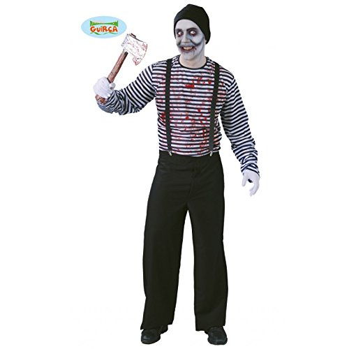 Mörder Pantomime Halloween Kostüm für Herren Halloweenkostüm blutig Gr. M/L, Größe:L