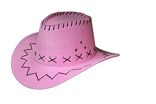 Miobo Cowboyhut Westernhut Cowgirl australien Texas Cowboy Hut Hüte Western für Erwachsene und Kinder (One Size, Rosa für Kinder)