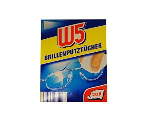 W5 Brillenputztücher - geeignet zur Reinigung von Brillen, Kameras, Ferngläsern, Autospiegeln, Helm-Visieren, Computerbildschirmen, Fernsehern, Mobiltelefonen, iPhone oder Android