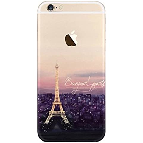 iPhone 6S Plus Case, iPhone 6 Plus Case, Ranrou case,Ranrou Soft TPU Silicone Clear Cases for iPhone 6 6S Plus -tower