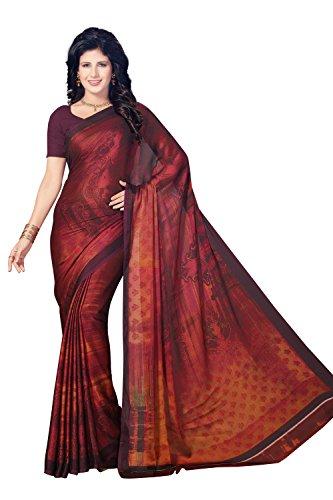 Rani Saahiba Satin Georgette Digital Print Saree ( SKR3758_Purple )