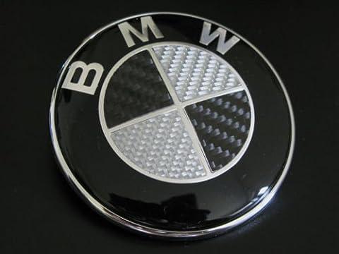 BMW BLACK CARBON FIBRE 74MM BOOT TRUNK BADGE EMBLEM /