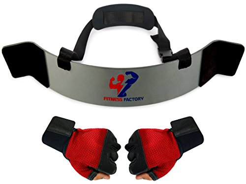 Arm Blaster - Perfect Builder for Muscle Arms - Biceps Bomber Isolator and Triceps Curls. Free Weightlifting Gym Gloves with Wrist Support