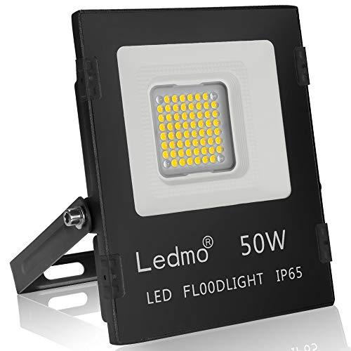 Faretto led esterno 50w 6000K bianco faro led ip65 SMD3030 4500LM LEDMO farettI led esterno per giardino AC85~265V