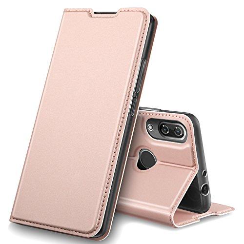 GeeMai Wiko View 2 Pro Hülle, Premium Flip Case Tasche Cover Hüllen mit Magnetverschluss [Standfunktion] Schutzhülle Handyhülle für Wiko View 2 Pro Smartphone, Rosegold