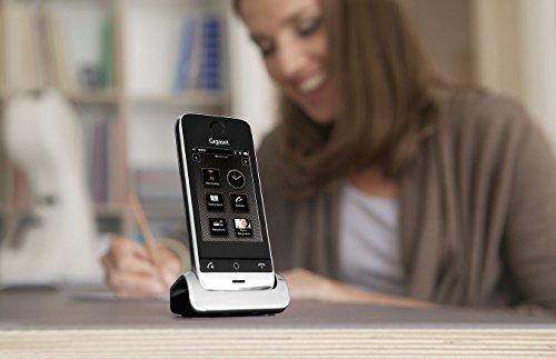 Gigaset SL910 Telefon - Schnurlostelefon / Mobilteil - mit Farbdisplay / Design Telefon / schnurloses Telefon - Freisprechen - schwarz - 12