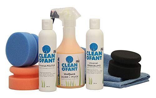 CLEANOFANT Set Polieren & Versiegeln - Politur + Versiegelung von Wohnwagen, Wohnmobil, Caravan