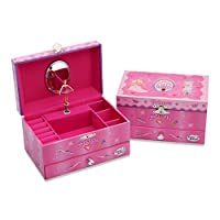 Lucy Locket Musical Jewellery Box for Children - Glittery Kids Musical Box with Ring Holder - Fairy, Unicorn and Princess Design