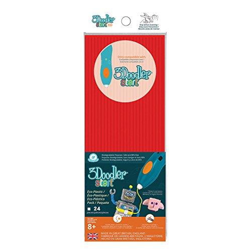 3 Doodler 62115 - Start Plastic Packs, rot