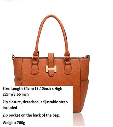 LeahWard® Damen Mode Tragetaschen KleinMittel Groß Berühmtheit Stil Schultertasche Handtasche 14004 Ash Grau