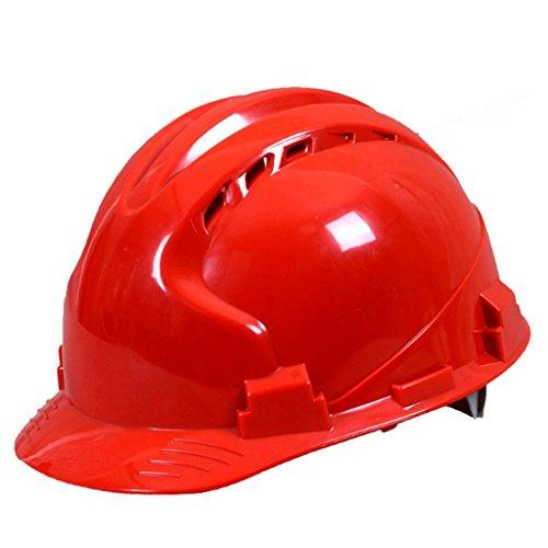 DGF Casque de sécurité ABS Respirant Usine Construction Site Anti-smashing Décoration Casquettes de protection Tête d'électricien Protection professionnelle Isolation Anti-collision Amortissement