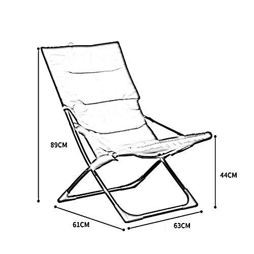 Blaue Strand-klapp-stühle (XQY Schlafsaal-Bett-Stuhl, Student-fauler Stuhl, College-Schlafsaal-Artifakt-Freizeit-Strand-Klappstühle, tragbares Büro-Rücken-Stühle, Balkon-Wohnzimmer-Stühle,Blau)