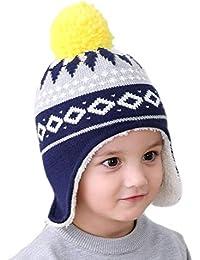 d60b658562ed8 Gifts Treat Chicas Muchachos Gorro Invierno Niños Sombrero Tejido Patrones  Geométricos
