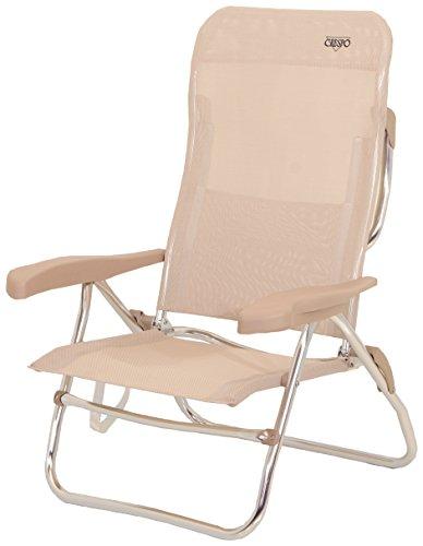 Crespo AL/223-M-34 - Silla-cama playa 6 pos.Dural.(Multifibra), color beige