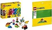 Lego Basic Brick Set with Green Baseplate