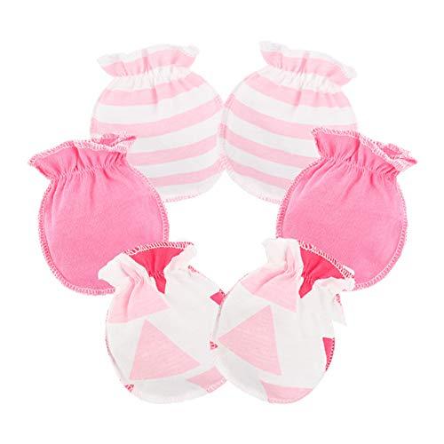 ti Kratzhandschuhe Infant Baby Soft Baumwolle Handschuhe Hellrosa ()