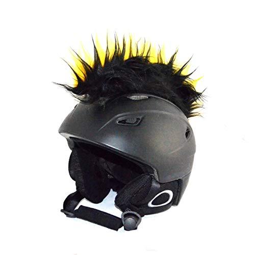 Helm-Irokese für den Skihelm, Snowboardhelm, Kinderskihelm, Kinderhelm, Motorradhelm, Fahrradhelm - auffälligere Helm-Aufkleber, Helmdeko für Kinder und Erwachsene - riesige Farbauswahl