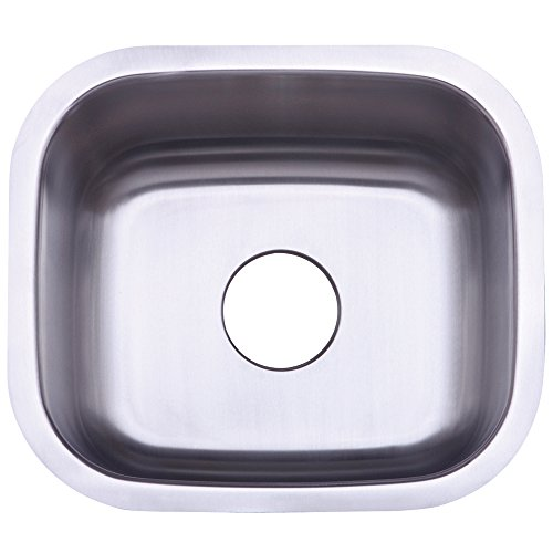 Kingston Brass KU14167BN 22 Gauge 17-15/16-Inch-by-15-5/8-Inch-by-7-11/16-Inch Single Bowl Stainless Steel Undermount Kitchen Sink by Elements of Design - Kitchen 16 Gauge Single Sink Bowl