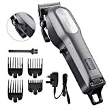 BESTBOMG Professional Cordless Hair Clippers for Men, Rechargeable Hair Cutting Kit, Home Barber