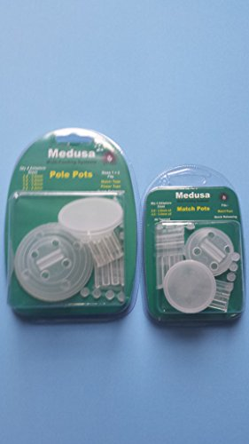 Medusa pole fishing match pots and sizes 1 & 2 pole/pellet pots cups