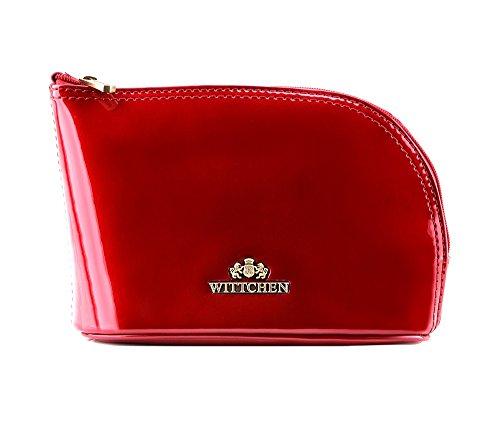 Wittchen Kosmetiktasche | Farbe: Rot | Lackleder | Höhe (cm): 12 x Breite (cm): 18 | Kollektion: Verona | 25-3-275-3
