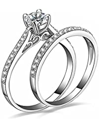 "Young & Forever Valentine Gifts Special ""Verona Collection"" The Ultimate In Bling Sterling Silver Swag Aaa Cubic..."