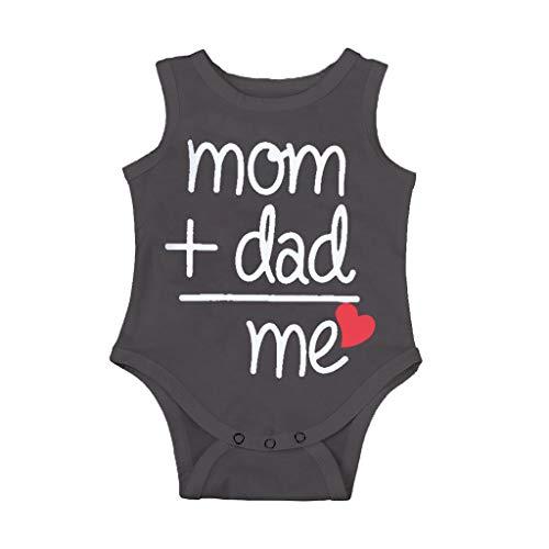 umpsuit Baby Jungen Sommer Pwtchenty Strampler Papas Outfit Baby Geburtstag Romper Outfits Spielanzug Strampelanzug ()