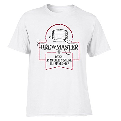 DesignDivil Quality Funny Brew Master Home Brew T Shirts Craft Beer Hops IPA Gift Vintage SP (Large, a. White) (Designing Great Beers)